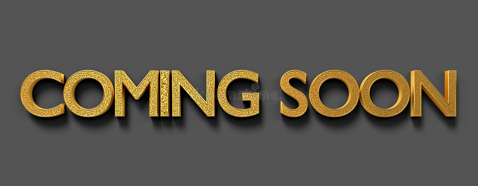 Coming soon text 3d rendering vector illustration