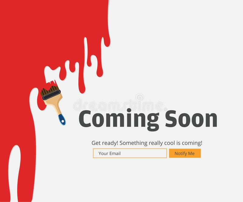 Coming Soon Website Template. Coming Soon Landing Page Design. vector illustration