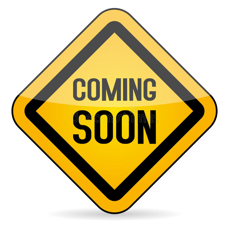 Coming Soon Yellow Sign. On white background. Eps file available stock illustration