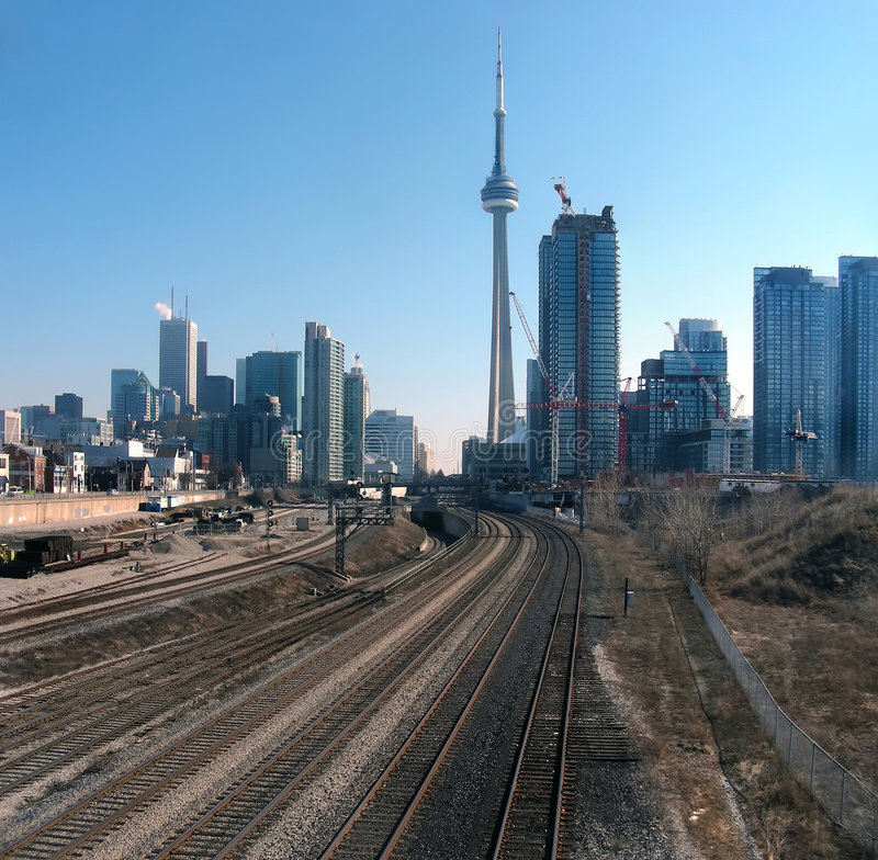 Download Coming into Town stock image. Image of structure, railroad - 9067925