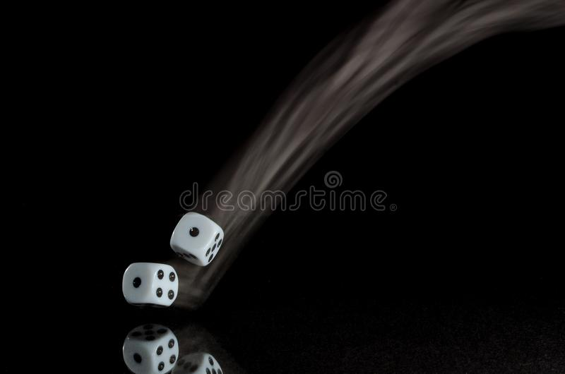Coming Up Snake Eyes on a Roll of the Dice. Coming Up with Snake Eyes on a Roll of the Dice stock images