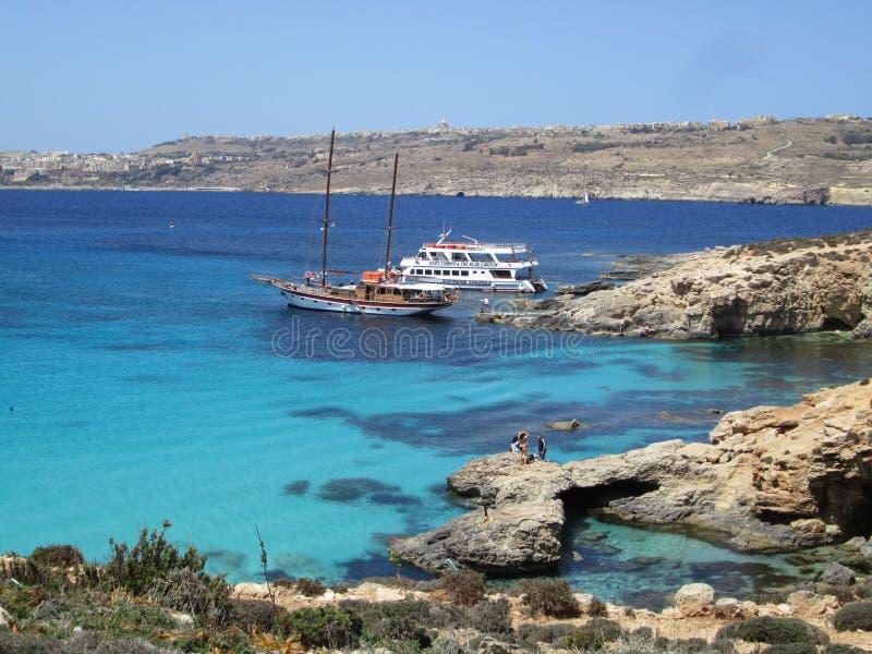 Comino ö Malta arkivfoto