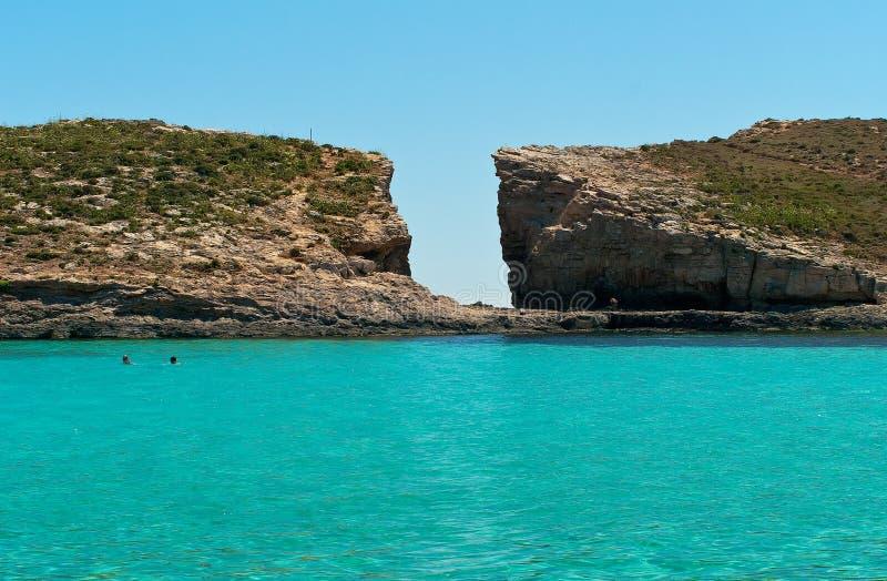 Comino Insel, Malta stockbilder