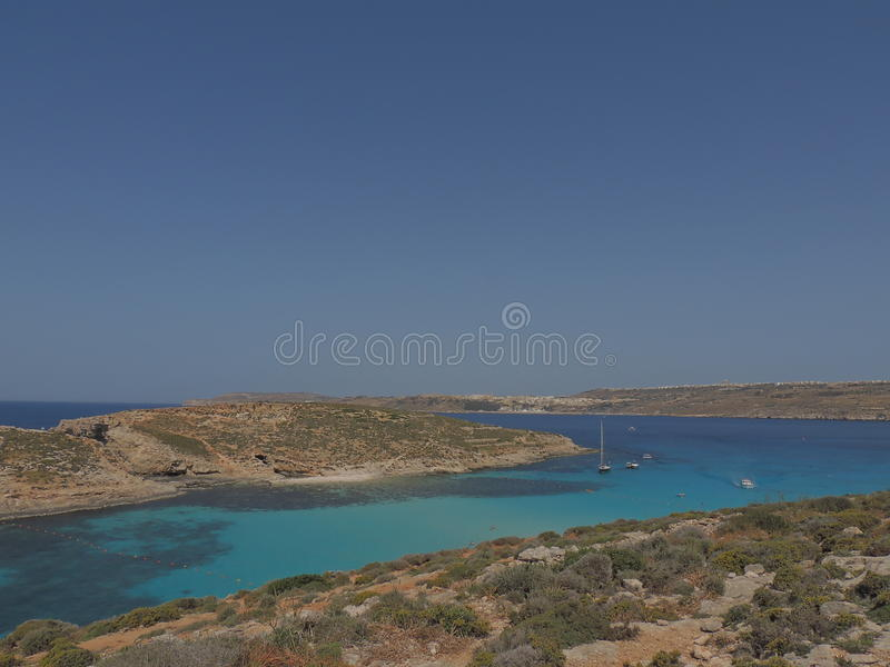 Comino wyspa - Malta zdjęcia royalty free