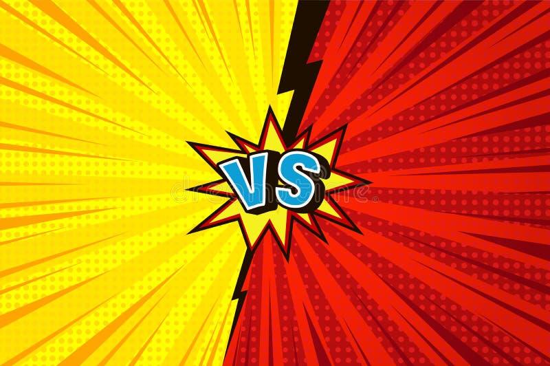 Comique contre le concept concurrentiel illustration libre de droits