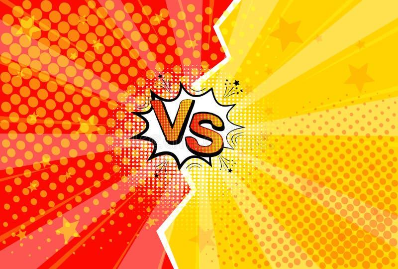 Comique d'art de bruit r?tro Fond jaune et rouge E Bande dessin?e contre Illustration de vecteur illustration stock