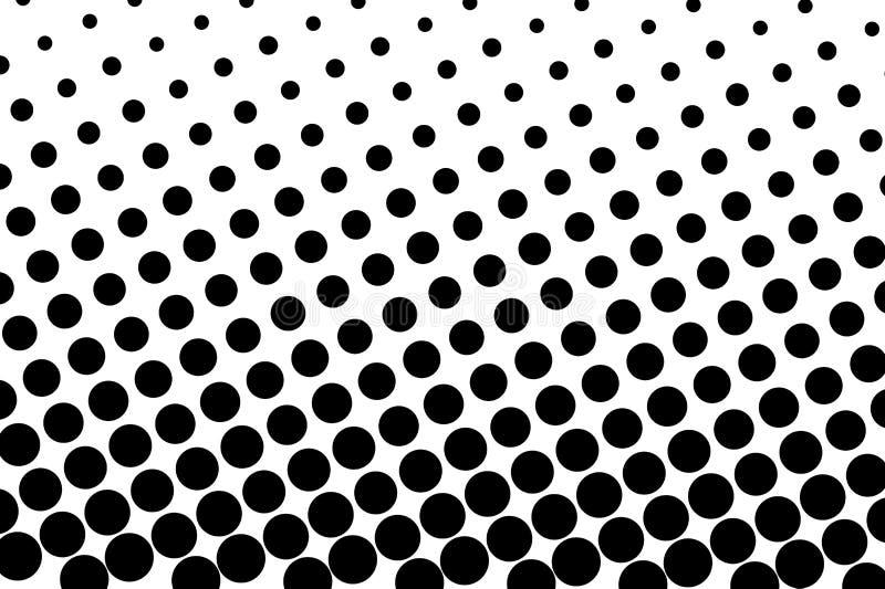 Comique, fond de bande dessinée style d'art de bruit Modèle avec de petits cercles, points Modèle pointillé d'image tramée illustration libre de droits