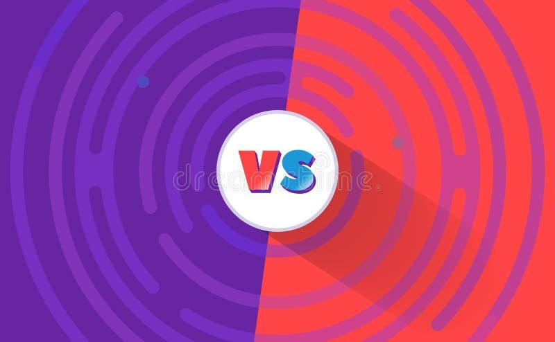 Comique rond CONTRE le fond Contre la bannière de vecteur, bleu, couleur rouge illustration de vecteur