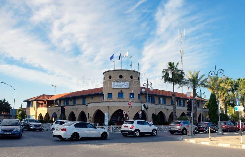 Comisar?a de polic?a divisional de Larnaca imágenes de archivo libres de regalías