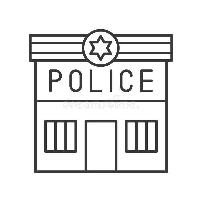 Comisaría de policía, movimiento editable del icono relacionado de la policía libre illustration