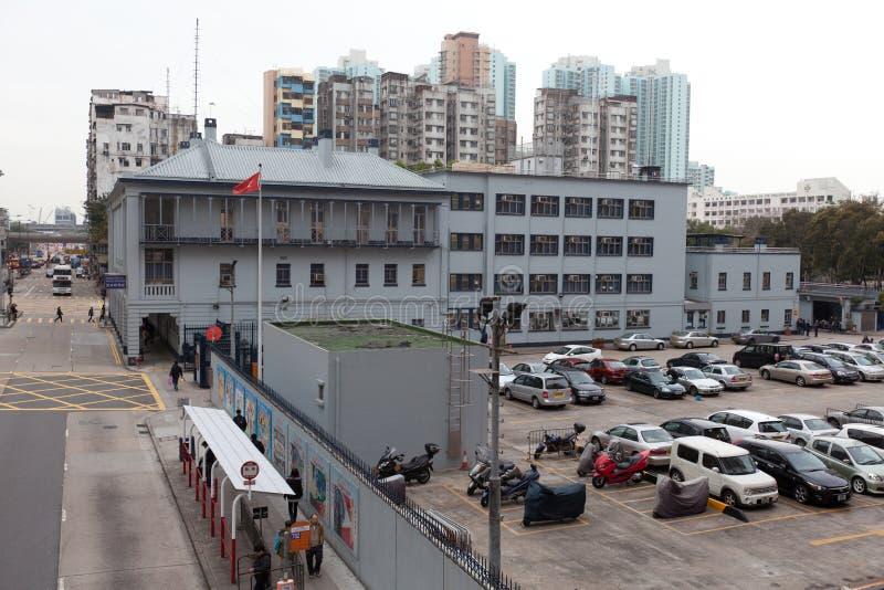 Comisaría de policías de Shui Po del impostor foto de archivo