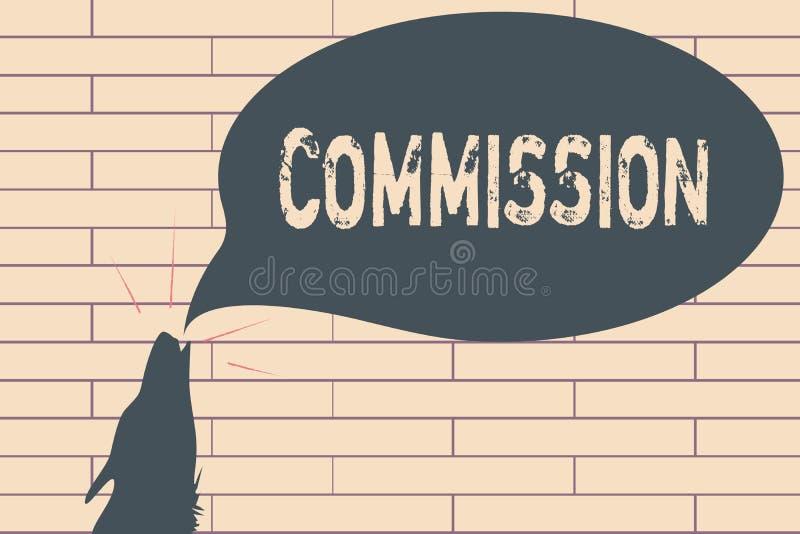 Comisión de la escritura del texto de la escritura Papel del comanalysisd de la instrucción del significado del concepto dado a u stock de ilustración