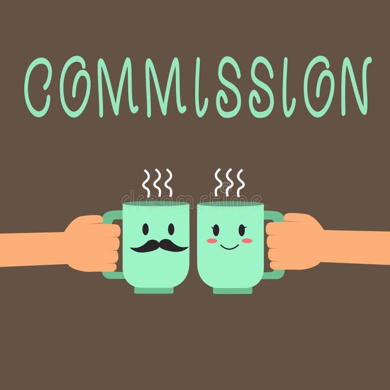 Comisión del texto de la escritura de la palabra Concepto del negocio para el papel del comanalysisd de la instrucción dado a una libre illustration