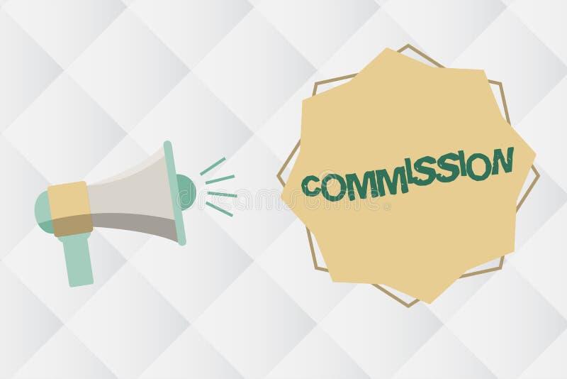 Comisión del texto de la escritura Papel del comanalysisd de la instrucción del significado del concepto dado a una legislación d ilustración del vector