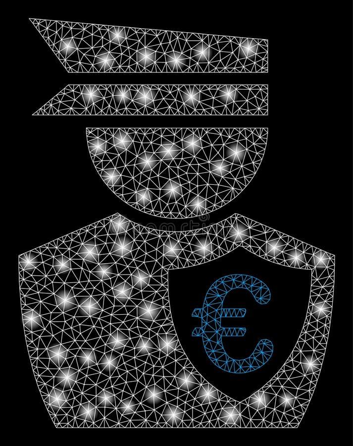 2.a comisión euro de la malla brillante con los puntos de destello libre illustration