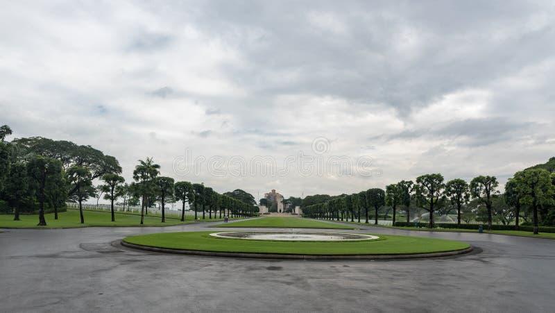 A comissão americana dos monumentos da batalha Cemitério e memorial americanos de Manila imagens de stock royalty free