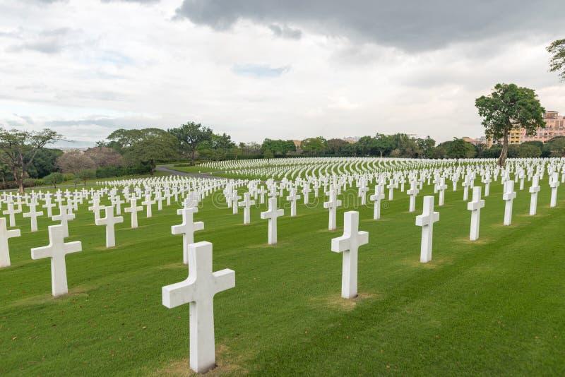 A comissão americana dos monumentos da batalha Cemitério e memorial americanos de Manila imagem de stock royalty free