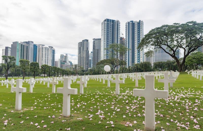 A comissão americana dos monumentos da batalha Cemitério e memorial americanos de Manila foto de stock