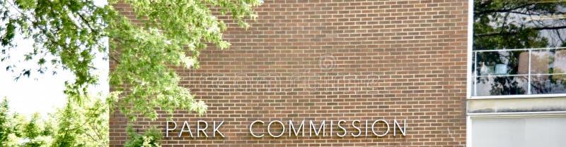 Comissão do parque foto de stock