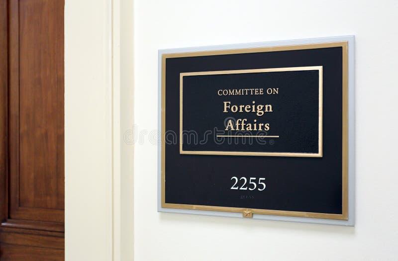 Comité de la casa sobre asuntos exteriores imágenes de archivo libres de regalías