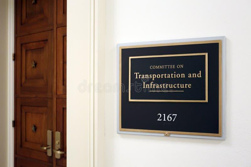 Comité de la casa sobre el transporte y la infraestructura foto de archivo libre de regalías