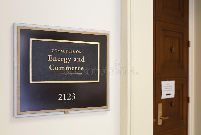 Comité de la casa sobre energía y comercio foto de archivo