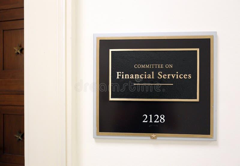 Comité de la casa sobre servicios financieros imágenes de archivo libres de regalías