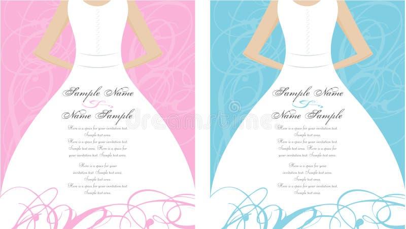 Comitati dell'invito di cerimonia nuziale royalty illustrazione gratis