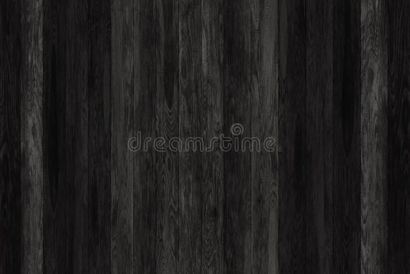 Comitati neri di legno di Grunge Fondo delle plance Pavimento d'annata di legno della vecchia parete fotografia stock libera da diritti