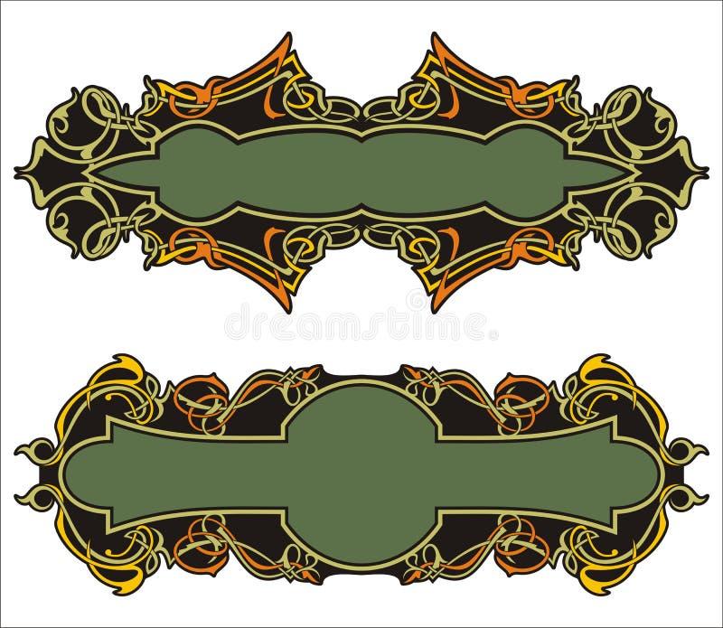 Comitati ornamentali illustrazione vettoriale