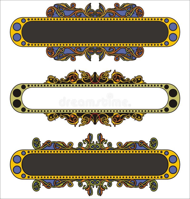 Comitati ornamentali illustrazione di stock