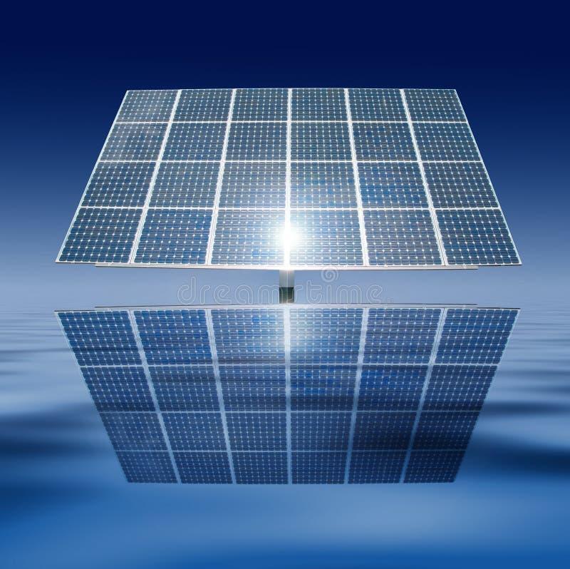 Comitati solari di galleggiamento fotografia stock