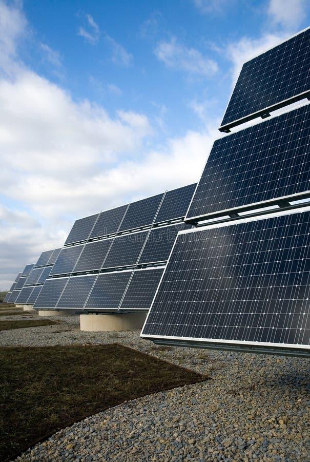 Comitati solari elettrici fotografie stock libere da diritti