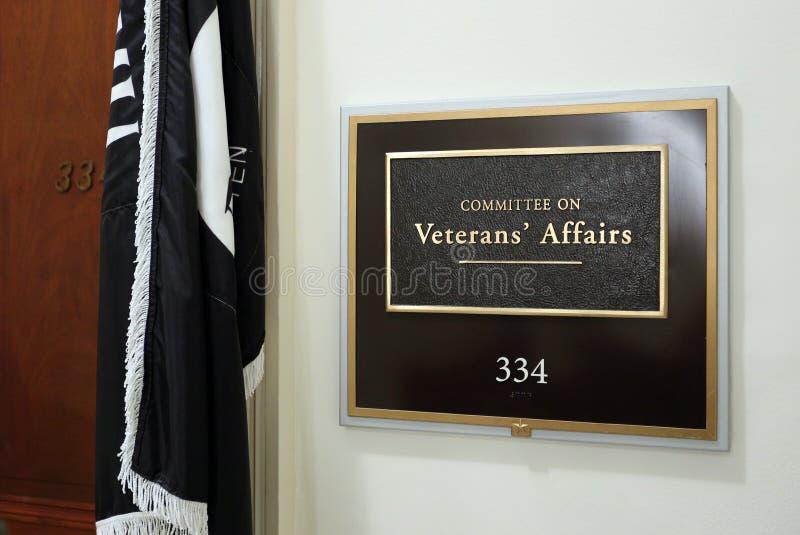 Comitato della Camera degli affari dei veterani fotografia stock
