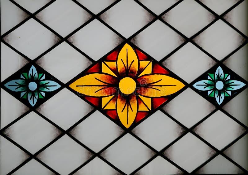 Comitato dello Stained-glass nel mus immagini stock