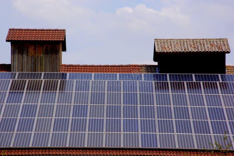 Comitato a energia solare immagine stock