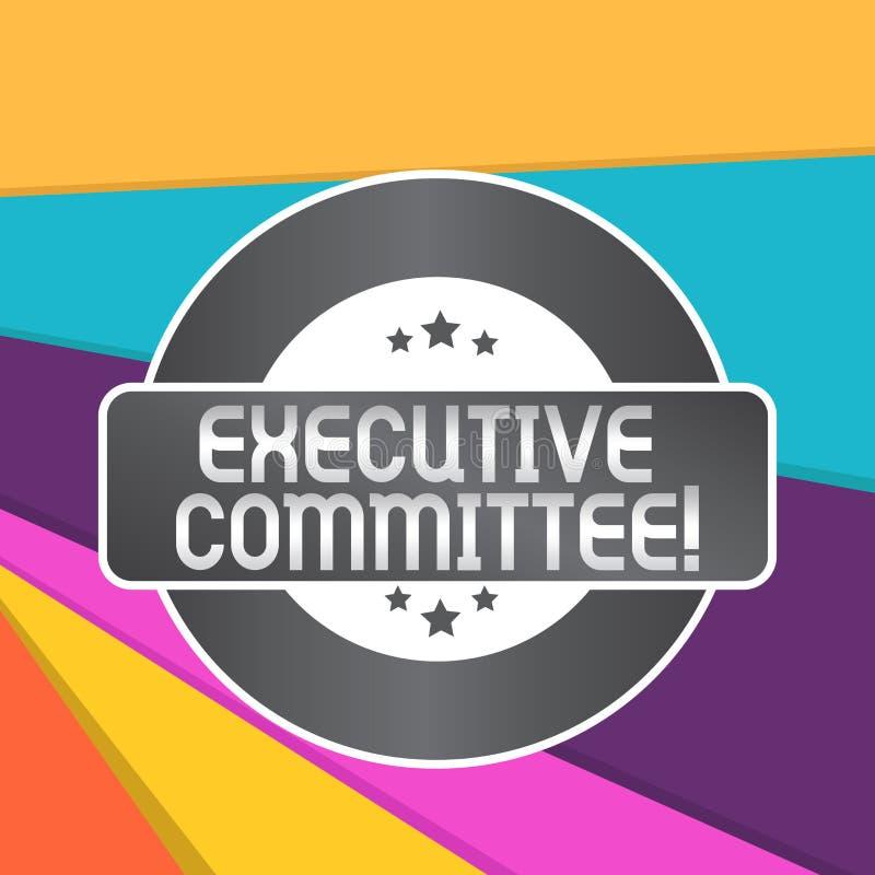 Comitato esecutivo del testo di scrittura di parola Il concetto di affari per il gruppo di direttori nominati ha autorit? nelle d royalty illustrazione gratis