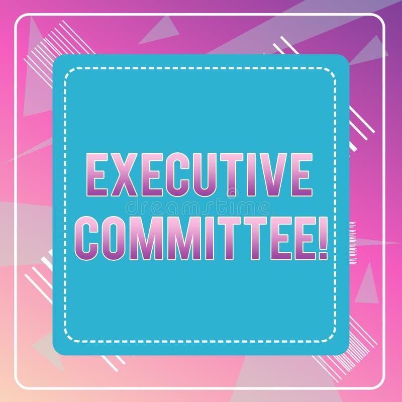 Comitato esecutivo del testo di scrittura di parola Il concetto di affari per il gruppo di direttori nominati ha autorit? nelle d illustrazione vettoriale