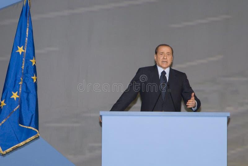 Download Comizio Berlusconi editorial photography. Image of speech - 8323117