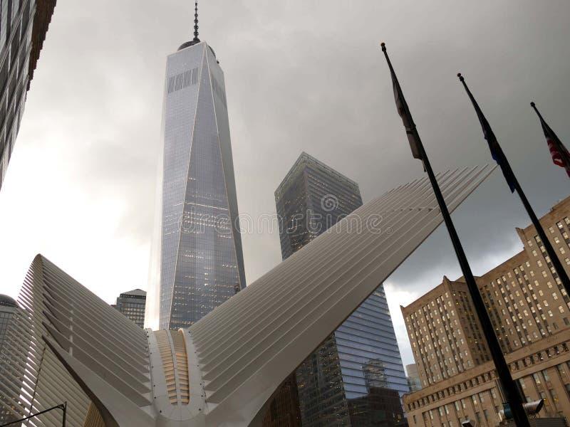 911 commémoratif et un World Trade Center photos libres de droits