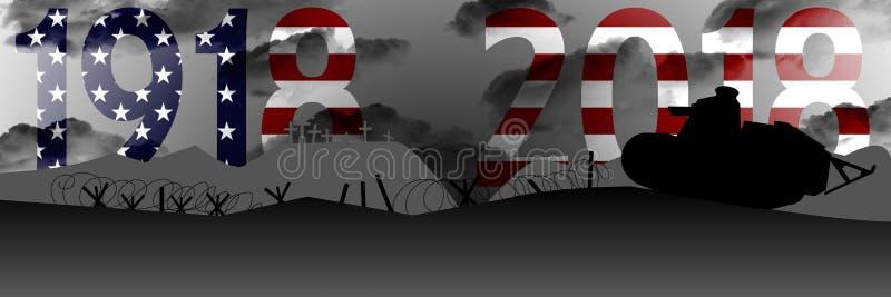 Commémoration du centenaire de la grande guerre illustration libre de droits