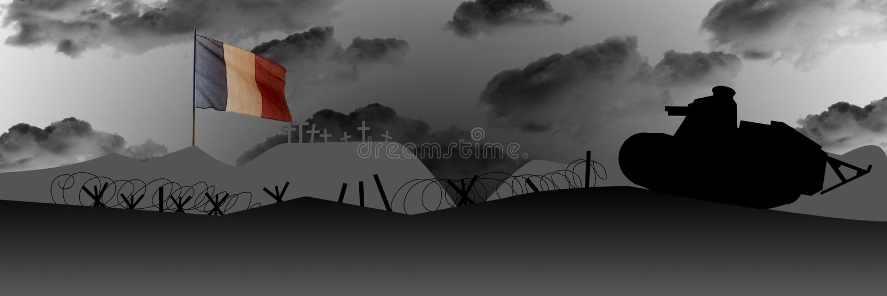 Commémoration du centenaire de la grande guerre illustration stock