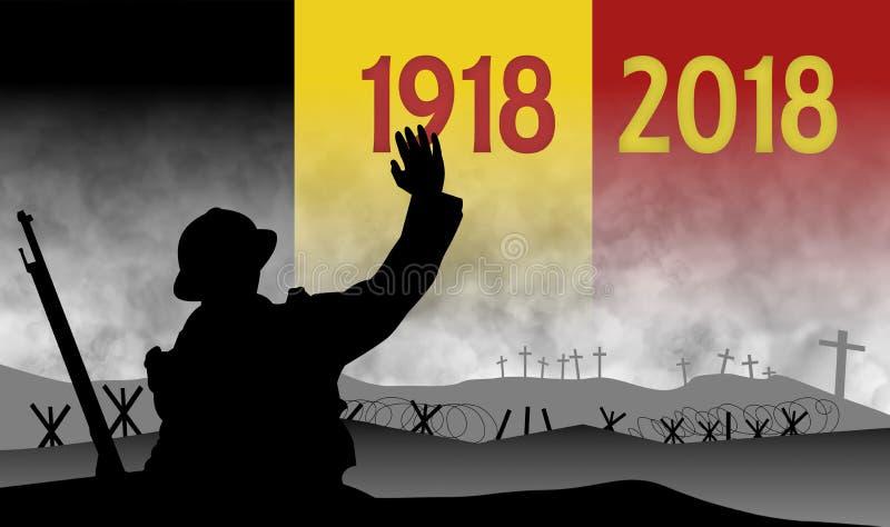 Commémoration du centenaire de la grande guerre, Belgique illustration libre de droits