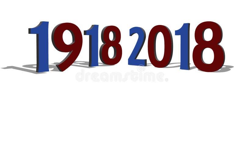 Commémoration du centenaire de la grande guerre, France illustration libre de droits
