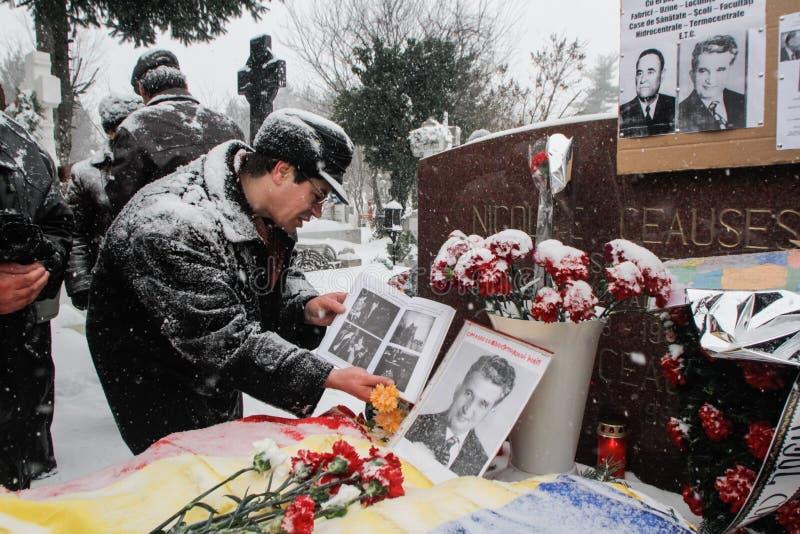 Commémoration du ` s de Ceausescu photographie stock libre de droits