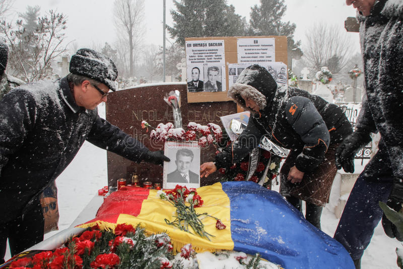 Commémoration du ` s de Ceausescu photo libre de droits