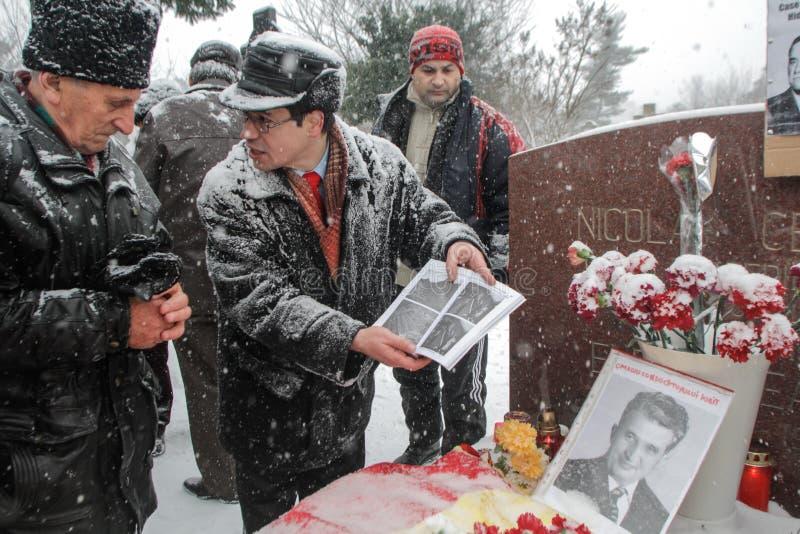 Commémoration du ` s de Ceausescu images libres de droits