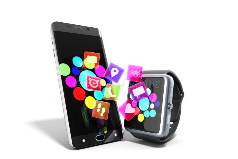 COMM. sans fil mobile créative de mobilité de connectivité et d'affaires illustration de vecteur