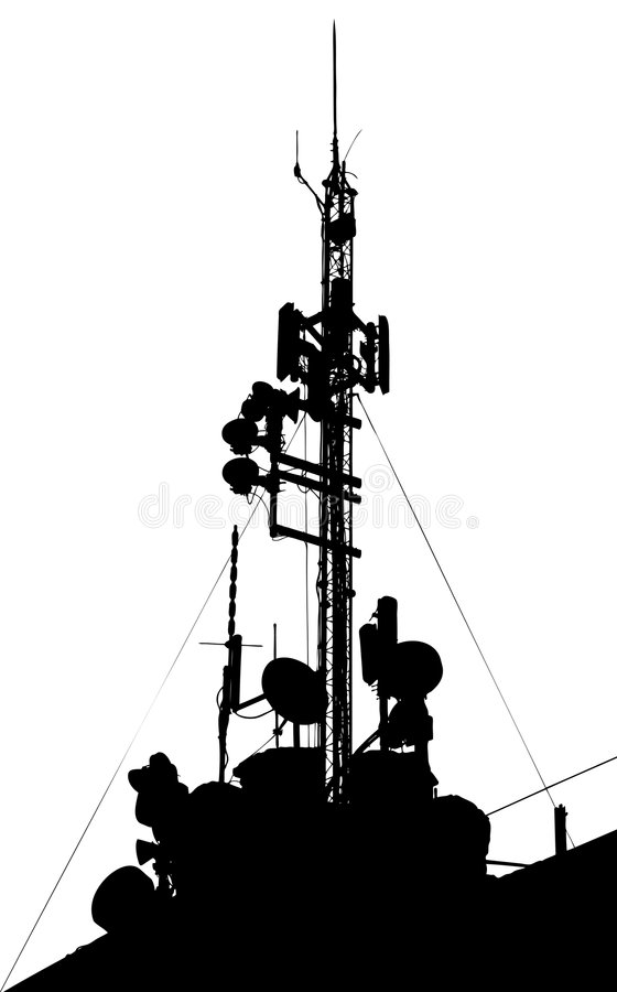 comm till den torn band radion vektor illustrationer