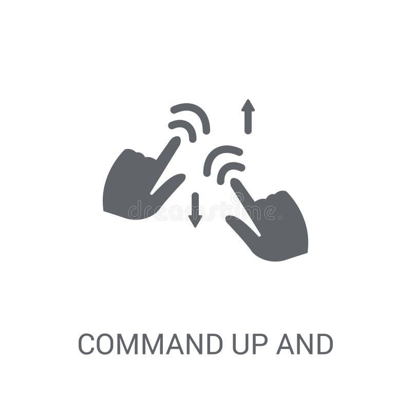 Commande à travers l'icône de geste Commande à la mode à travers des ges illustration de vecteur